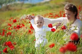 child with poppy